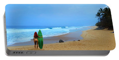 Hawaiian Surfer Girl Portable Battery Charger by Michael Rucker