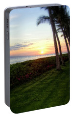 Portable Battery Charger featuring the photograph Hawaiian Tropical Sunset by Glenn McCarthy