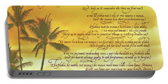 Hawaiian Wedding Blessing-sunset Portable Battery Charger