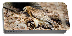 Hawk And Gecko Portable Battery Charger by George Randy Bass