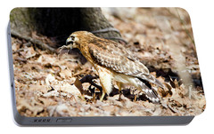 Portable Battery Charger featuring the photograph Hawk And Gecko by George Randy Bass