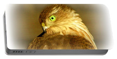 Hawk Eye Portable Battery Charger by Barbara S Nickerson