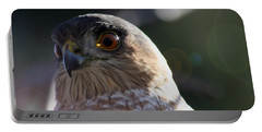 Portable Battery Charger featuring the photograph Hawk Eyes by Mary-Lee Sanders