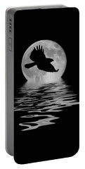Portable Battery Charger featuring the photograph Hawk In The Moonlight by Shane Bechler