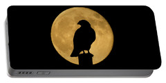 Portable Battery Charger featuring the photograph Hawk Silhouette 2 by Shane Bechler