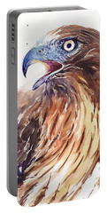 Hawk Watercolor Portable Battery Charger