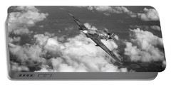Portable Battery Charger featuring the photograph Hawker Hurricane IIb Of 174 Squadron Bw Version by Gary Eason