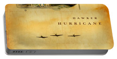 Portable Battery Charger featuring the digital art Hawker Hurricane Raf by John Wills