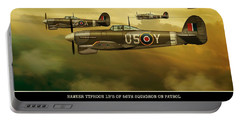 Portable Battery Charger featuring the digital art Hawker Typhoon Sqn 56 by John Wills
