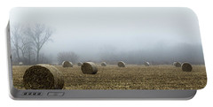 Hay Bales In A Field Portable Battery Charger