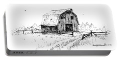 Hay Barn With Broken Gate Portable Battery Charger