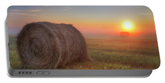 Portable Battery Charger featuring the photograph Hayrise by Dan Jurak
