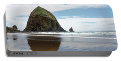 Portable Battery Charger featuring the photograph Haystack Rock #1 by Rebecca Cozart
