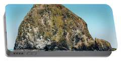 Portable Battery Charger featuring the photograph Haystack Rock by Anthony Baatz