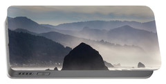 Haystack Rock On The Oregon Coast In Cannon Beach Portable Battery Charger