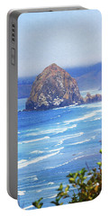 Haystack Rock Oregon Portable Battery Charger by Tom Janca