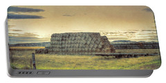 Haystacks And Badlands Portable Battery Charger by Aliceann Carlton