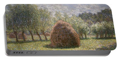 Haystacks At Giverny Portable Battery Charger