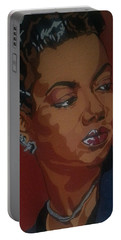 Portable Battery Charger featuring the painting Hazel Scott by Rachel Natalie Rawlins