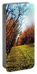 Portable Battery Charger featuring the photograph Hazelnut Orchard 21578 16x20 by Jerry Sodorff