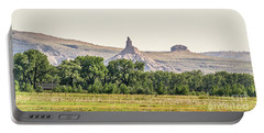 Portable Battery Charger featuring the photograph Hazy Chimney Rock by Sue Smith