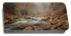 Hazy Mountain Stream #2 Portable Battery Charger by Tom Claud