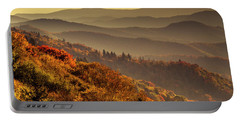 Hazy Sunny Layers In The Smoky Mountains Portable Battery Charger by Teri Virbickis