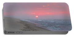 Portable Battery Charger featuring the photograph Hazy Sunrise by  Newwwman