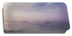 Hazy Sunset In Bar Harbor Maine Portable Battery Charger
