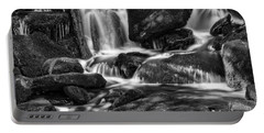 Hd Waterfall In Black And White Portable Battery Charger