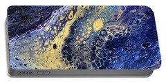Portable Battery Charger featuring the painting He Likes Space by Robbie Masso