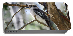 Portable Battery Charger featuring the photograph He Sings The Song Of The Bush by Linda Lees