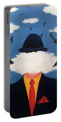 Head In The Cloud Portable Battery Charger by Thomas Blood