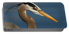 Head Of A Great Blue Heron Portable Battery Charger