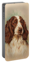 Head Of An English Springer Spaniel Portable Battery Charger