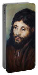 Head Of Christ After Rembrandt Portable Battery Charger