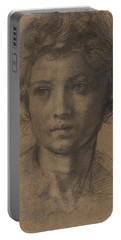 Head Of Saint John The Baptist Portable Battery Charger