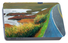 Portable Battery Charger featuring the painting Heading North by Gary Coleman