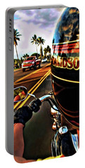 Heading Out On Harley Portable Battery Charger by Joan  Minchak