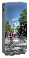 Heading To Camp Randall Portable Battery Charger by David Bearden