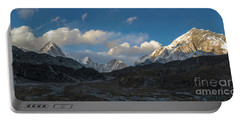 Portable Battery Charger featuring the photograph Heading To Everest Base Camp by Mike Reid