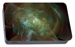 Portable Battery Charger featuring the digital art Headstrong by Jeff Iverson