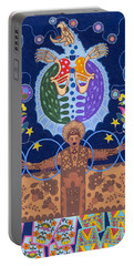 Portable Battery Charger featuring the painting Healing - Nanatawihowin by Chholing Taha