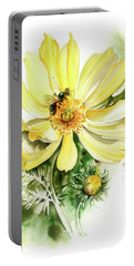 Portable Battery Charger featuring the painting Healing Your Heart by Anna Ewa Miarczynska