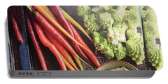 Portable Battery Charger featuring the photograph Healthy Food Veggie Salad Kitchen Chef Cuisine Birthday Christmas Festivals Mom Dad Festivals Sister by Navin Joshi