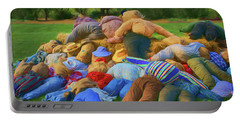 Portable Battery Charger featuring the photograph Heap Of Scarecrows by Nikolyn McDonald