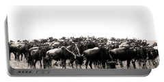 Herd Of Wildebeestes Portable Battery Charger