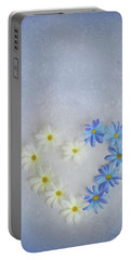 Heart And Flowers Portable Battery Charger