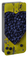 Heart Box With Blueberries Portable Battery Charger