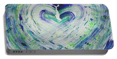 Heart Centered Peace And Love Portable Battery Charger